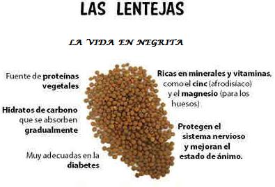 Beneficios de comer las lentejas